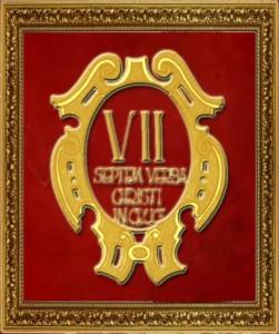 escudo en marco terciopelo