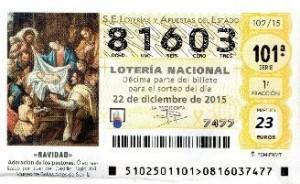 Loteria de Navidad 2015