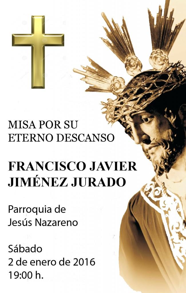 Cartel misa difuntos Franci